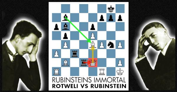 Rubinsteins Immortal Rotweli Vs Rubinstein Free Chess Course