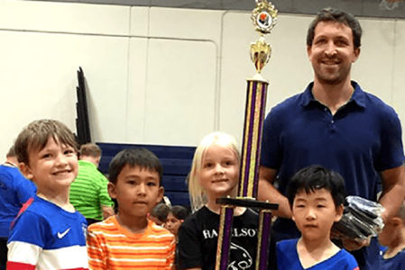 Chess Class With Kids Receive Tropy