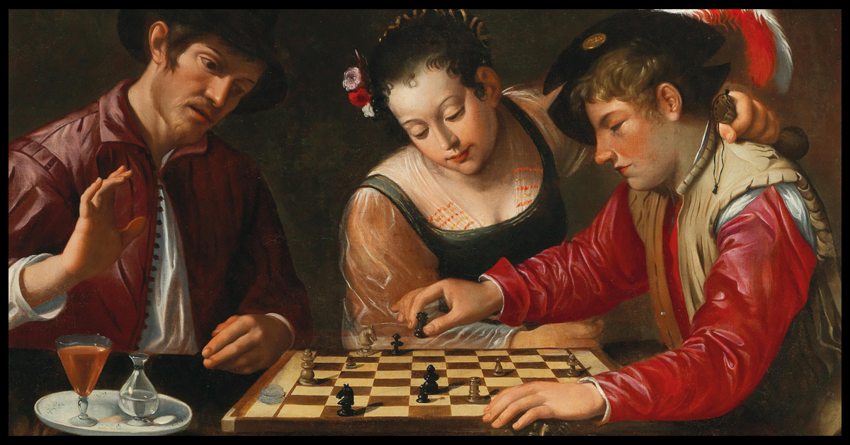 The Italian Game Header- The Chess Players