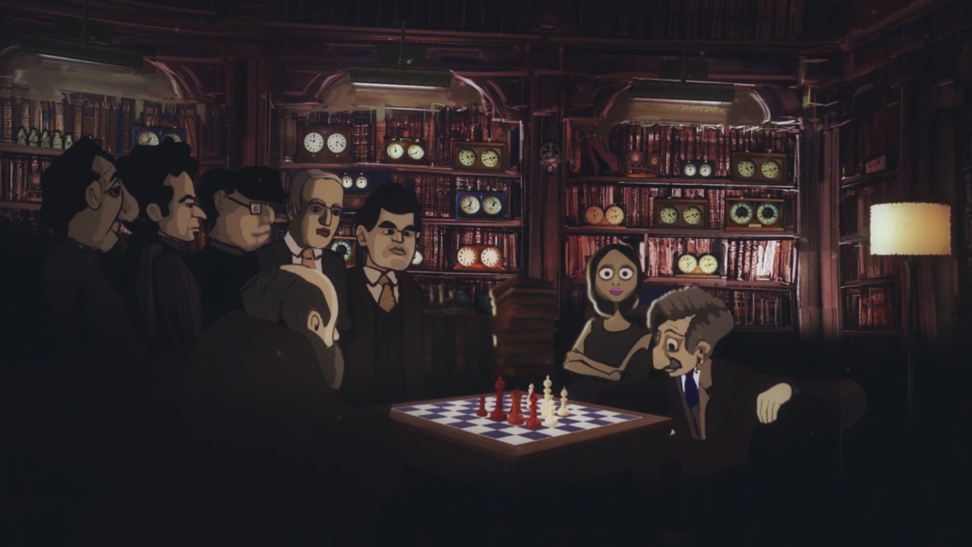 Screenshot Of The Turk And A Chess Lesson In Progress